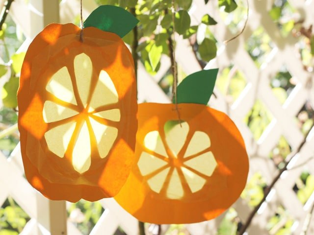 Citron Sun Catchers for Sukkot