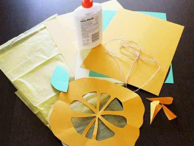 Citron Sun Catchers - A fun and easy family project for Sukkot, from contributor Brenda Ponnay. Jewish education, holidays, school, home school, craft.