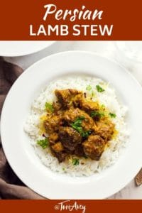 Persian Lamb Stew Pinterest Pin on ToriAvey.com