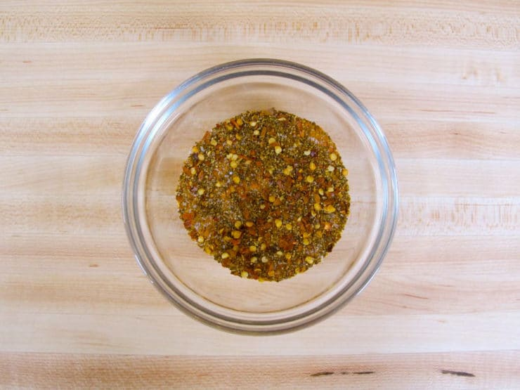 Combine spices in a small bowl.