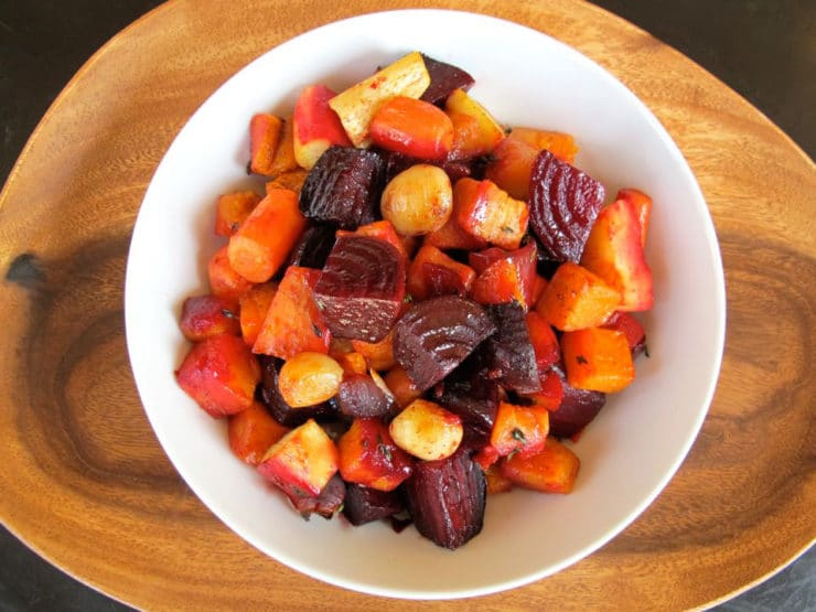 Roasted Root Vegetables on Eating Rules