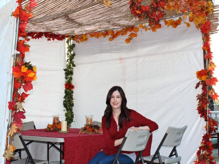 Sukkot 2011 - A glimpse at my family's sukkah, where we enjoy all of our Sukkot meals!