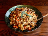 Challah Slow Cooker Stuffing - Kosher Holiday Thanksgiving Recipe
