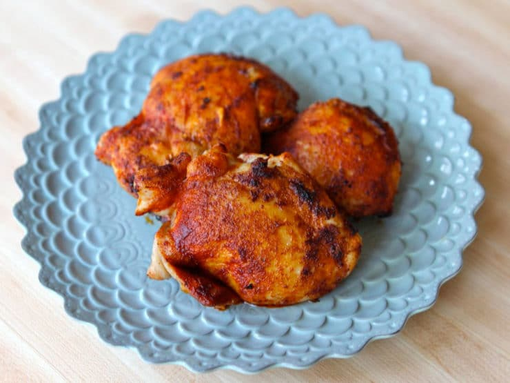 Smoked Paprika Chicken Thighs on a plate.