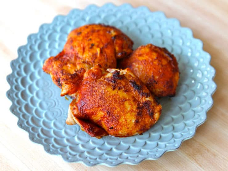 Smoked Paprika Chicken - Simple and delicious recipe using boneless skinless chicken thighs or breasts. Kosher, Meat.