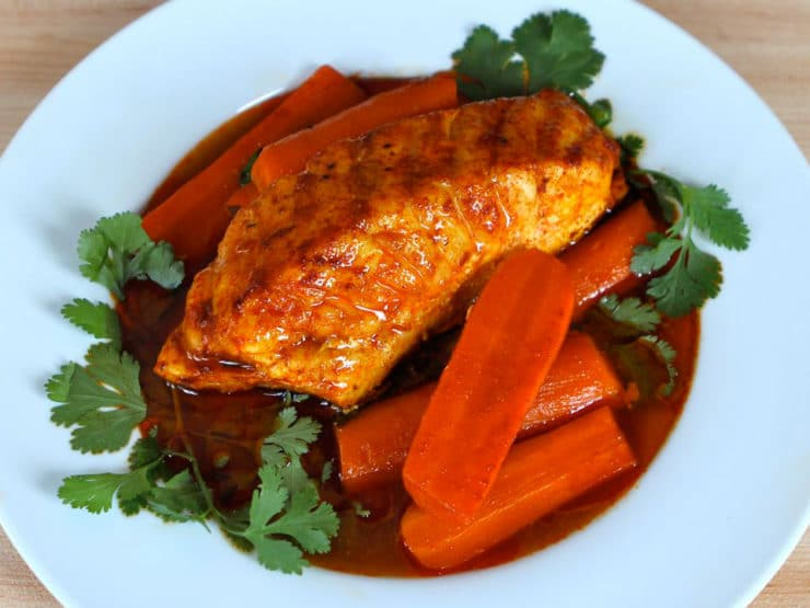Smoked Paprika Fish with Carrots - Easy Healthy Dinner Recipe with ...