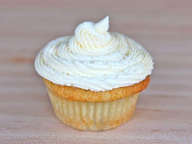 Frosted cupcake.