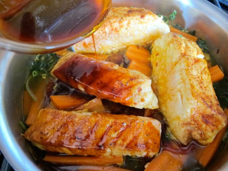 Smoked Paprika Fish with Carrots - Healthy Kosher Recipe