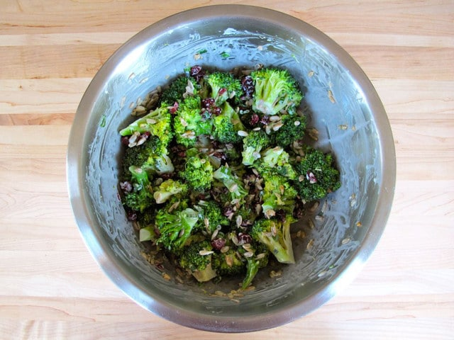Crunchy Sweet Broccoli Craisin Salad - Tori Avey