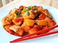 Chinese Sweet and Sour Chicken Close 2