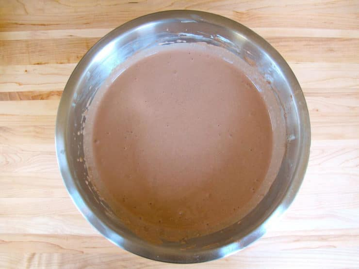 Gently mix cocoa powder into cream cheese mixture.