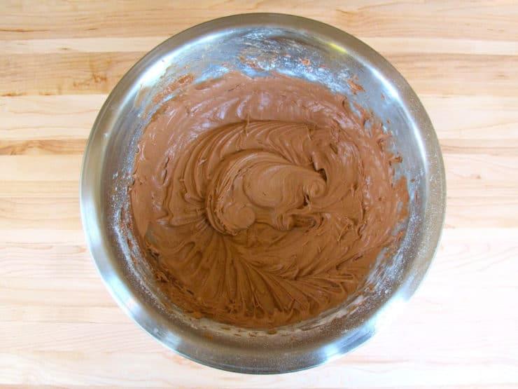 Mix flour into butter mixture.