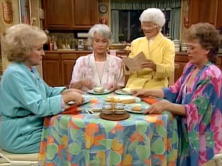 The Golden Girls Cheesecake - Recipe for The Golden Girls Cheesecake. Celebrate Betty White's birthday with Sophia Petrillo's Double Fudge Amaretto Ricotta Cheesecake.