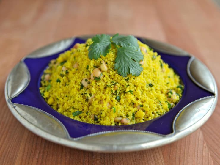 Recipe for Lemony Saffron Couscous, a savory side dish with lemon ...