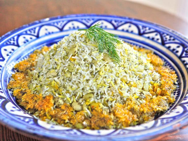 Persian Dill and Lima Bean Rice Main
