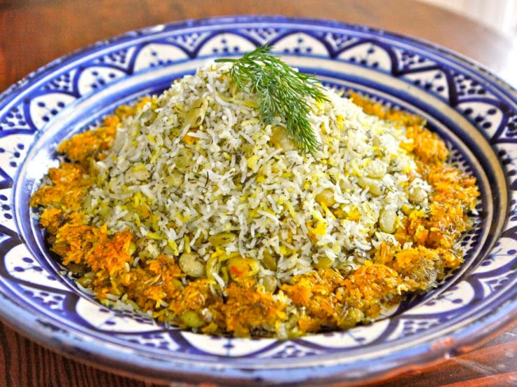 Persian Dill and Lima Bean Rice Platter