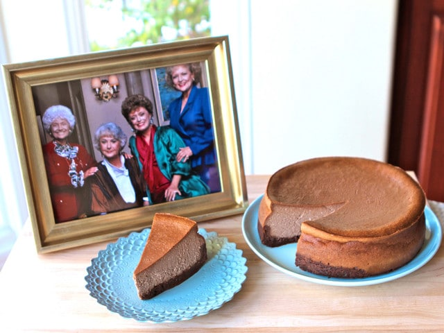 The Golden Girls Cheesecake Double Fudge Amaretto Cheesecake