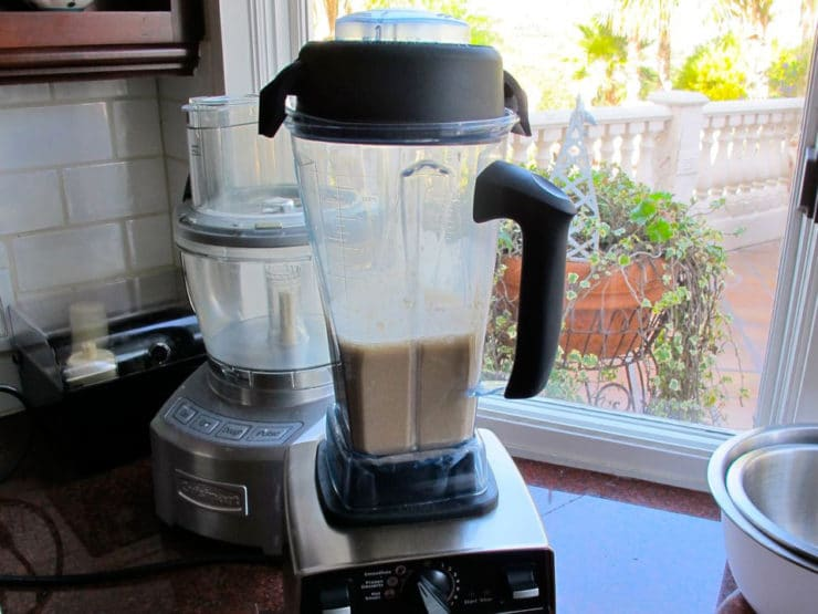 French Toast batter in a blender.