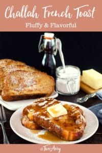 Challah French Toast Pinterest Pin on ToriAvey.com