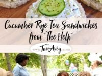 Cucumber Rye Tea Sandwiches Pinterest Pin on ToriAvey.com