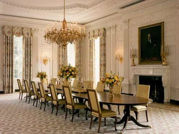 State Dining Room between 1900 and 1906, White House