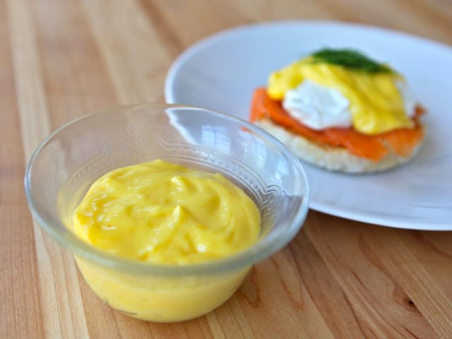 Julia Child's Easy Blender Hollandaise Sauce