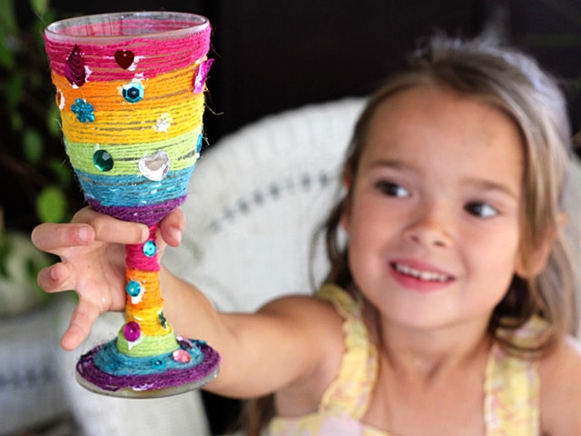 Family Fun: Elijah's Cup Passover Craft - Learn to make a homemade Elijah's Cup with this fun, colorful, kid-friendly Passover holiday craft from Brenda Ponnay on ToriAvey.com.