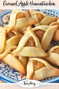Pinterest pin for Caramel Apple Hamantaschen on ToriAvey.com