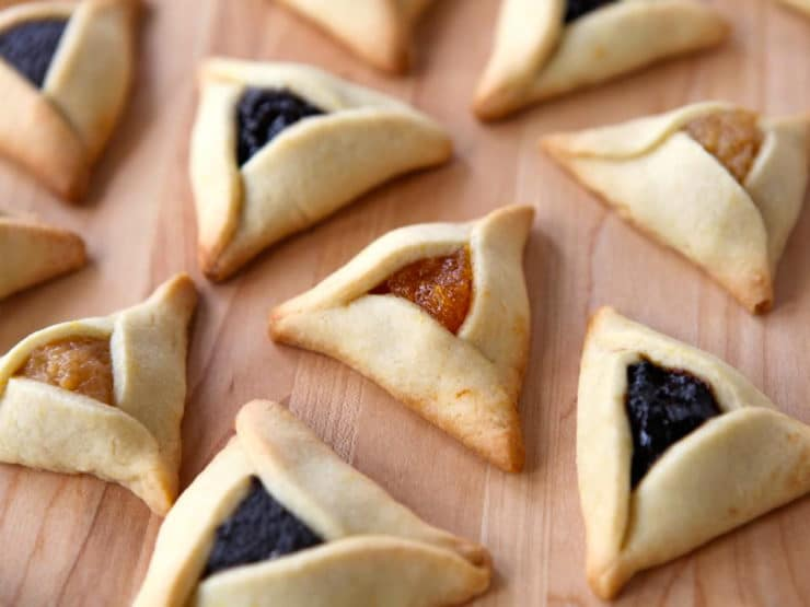 Dairy Free Hamantaschen - Learn to make pareve hamantaschen dough, easy to work with for any filling. Delicate, thin, orange-scented cookies. Kosher, Pareve.