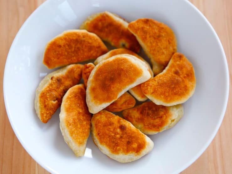 Homemade Chicken Kreplach - Make old fashioned Chicken Kreplach from scratch - recipe with step-by-step photos. Deli-style soup dumplings just like Bubbe made. Kosher, Meat.