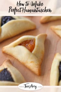 How to Make Perfect Hamantaschen Pinterest Pin on ToriAvey.com