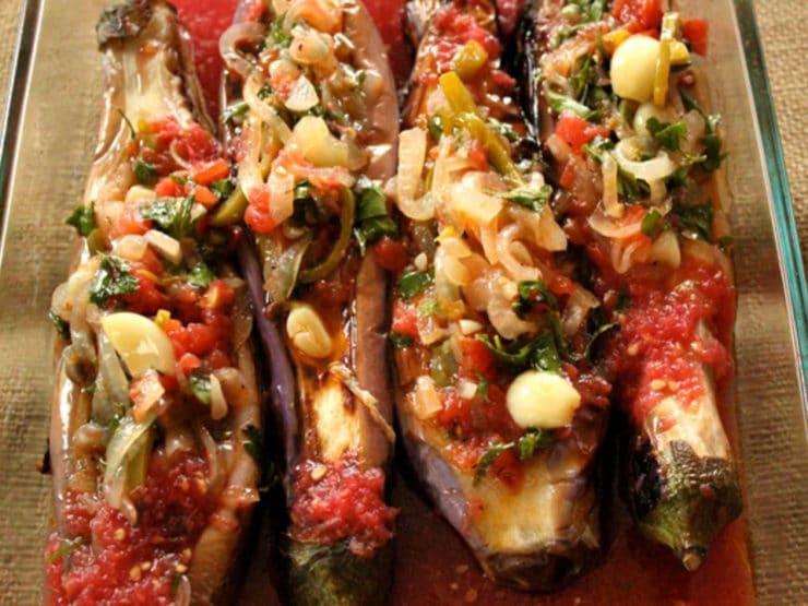 Imam Bayıldı – Roasted Stuffed Eggplant