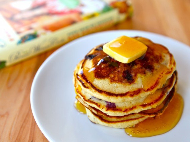 "Ree's Lemon Blueberry Pancakes - Recipe from Ree Drummond's cookbook, ""The Pioneer Woman Cooks - Food From My Frontier."" Breakfast, Brunch, Dairy."