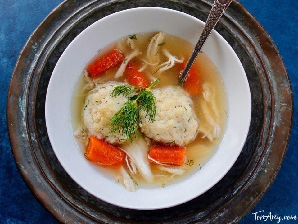 Matzo Ball Soup - My favorite homemade chicken soup with three matzo ball recipes - floaters, sinkers, or gluten free.