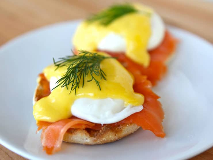 Nova Lox Benedict - Delicious Breakfast or Brunch Recipe with Smoked Salmon and Easy Hollandaise Sauce on ToriAvey.com