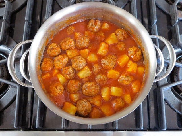 Passover Sweet and Sour Meatballs 7