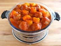 Passover Sweet and Sour Meatballs Main
