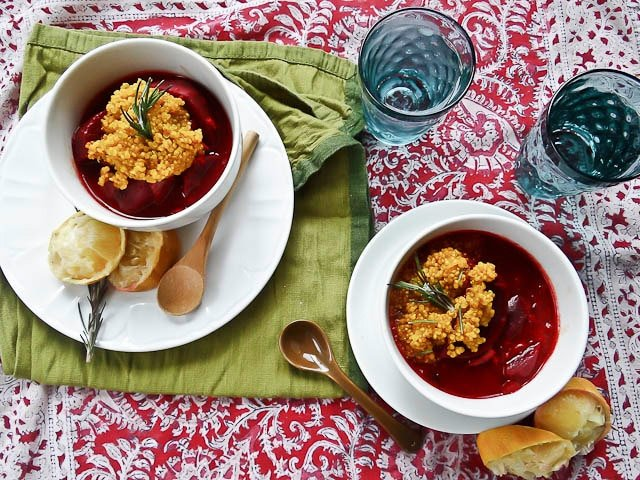 Beetroot & Maitake Stew With Turmeric Quinoa Recipes — Dishmaps
