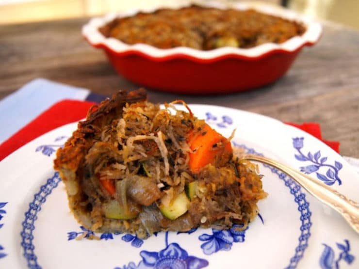 Potato Crusted Roasted Vegetable Pot Pie
