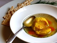 Saffron Matzo Balls Featured
