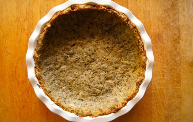 Baked potato pie crust.