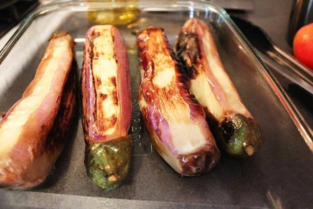 Roasted eggplant.