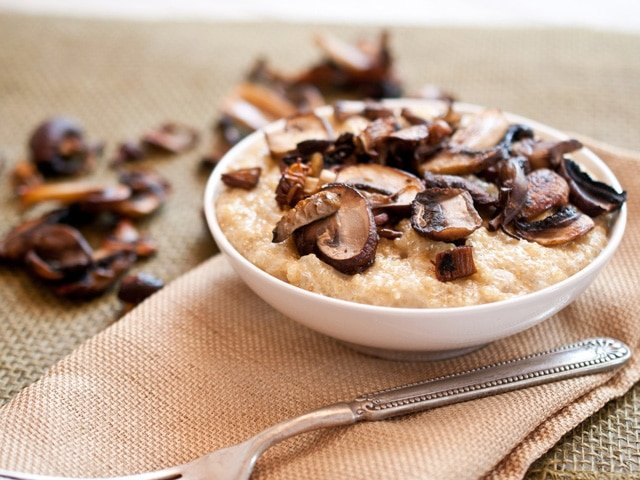 Roasted Mushroom Quinoa Risotto - Learn to make a delicious dairy quinoa side dish for Passover from Jackie Dodd. Kosher, dairy, healthy, vegetarian.