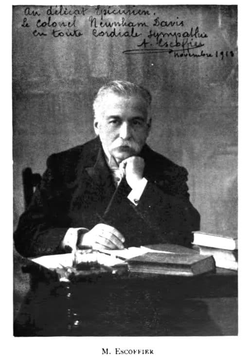 A portrait of chef Auguste Escoffier