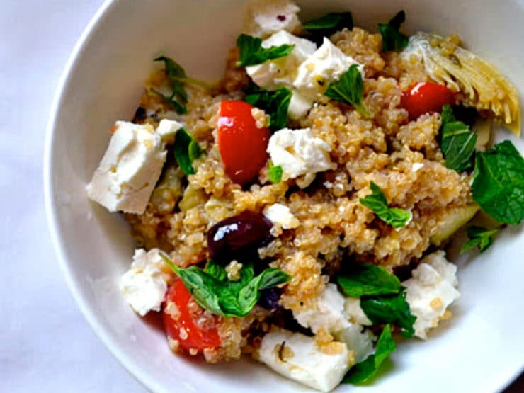 Greek Infused Quinoa Salad