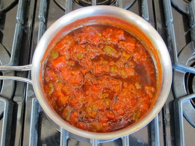 Matbucha- Moroccan Tomato Salad Recipe - Salade Cuite
