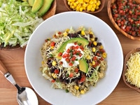 Quinoa Black Bean Burritto Bowl with Garnish
