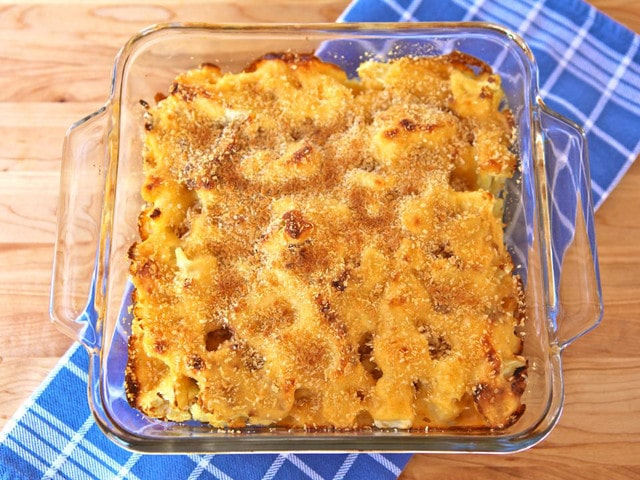 Roasted Cauliflower Gratin on TheShiksa.com #healthy #comfort #food #recipe