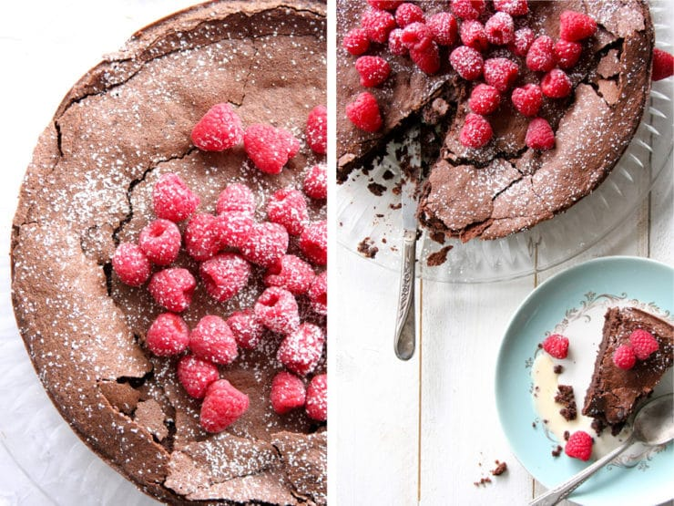 Flourless Chocolate Hazelnut Cake - Learn to make a flourless chocolate hazelnut cake for Passover with this kosher, grain-free recipe from Chef Louise Mellor. Dessert, Kosher, Dairy.