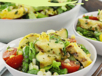 Grilled vegetable salad Pinterest pin